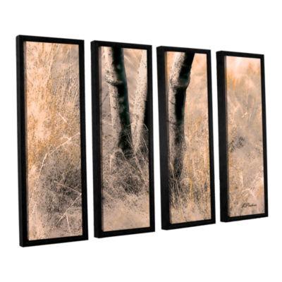 Brushstone Desert Grasses II 4-pc. Floater FramedCanvas Wall Art