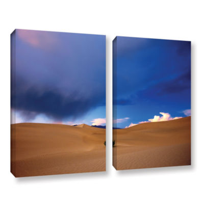 Brushstone Death Valley Winter 2-pc. Gallery Wrapped Canvas Wall Art