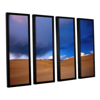 Brushstone Death Valley Winter 4-pc. Floater Framed Canvas Wall Art