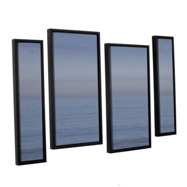 Brushstone Dead Calm 4-pc. Floater Framed Staggered Canvas Wall Art