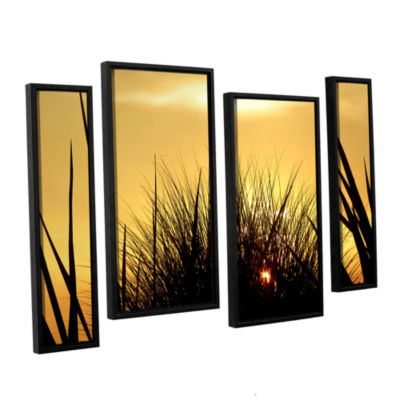 Brushstone Deep In July 4-pc. Floater Framed Staggered Canvas Wall Art