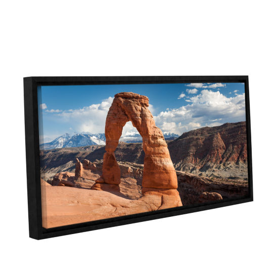 Brushstone Delicate Arch Daytime Panoramic GalleryWrapped Floater-Framed Canvas Wall Art