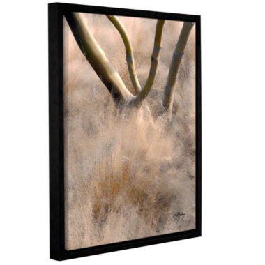 Brushstone Desert Grasses Gallery Wrapped Floater-Framed Canvas Wall Art