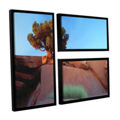 Brushstone Dead Horse Point 3-pc. Flag Floater-Framed Canvas Wall Art