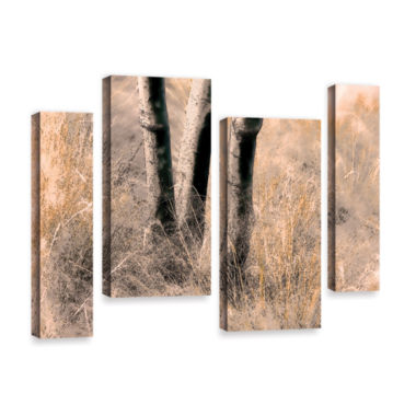 Brushstone Brushstone Desert Grasses Ii 4-pc. Gallery Wrapped Staggered Canvas Wall Art