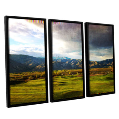 Brushstone Day At The Range 3-pc. Floater Framed Canvas Wall Art