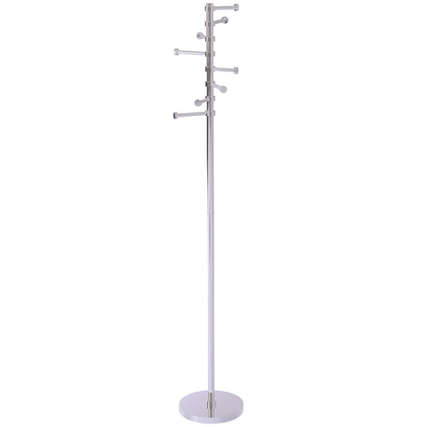 Allied Brass Free Standing Coat Rack With Six Pivoting Pegs