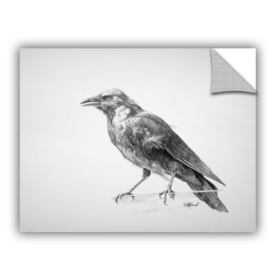 Brushstone Crow Drawing Removable Wall Decal
