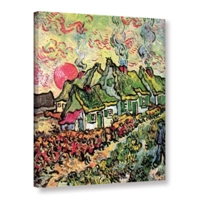 Brushstone Cottages Reminiscent Of North Gallery Wrapped Canvas Wall Art