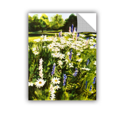 Brushstone Daisies And Larkspurs Removable Wall Decal