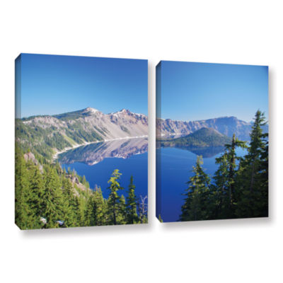 Brushstone Crater Lake 2-pc. Gallery Wrapped Canvas Wall Art