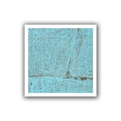 Brushstone Cyan Swirl Canvas Wall Art