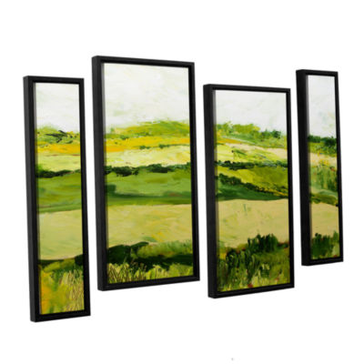 Brushstone Cottonworth 4-pc. Floater Framed Staggered Canvas Wall Art