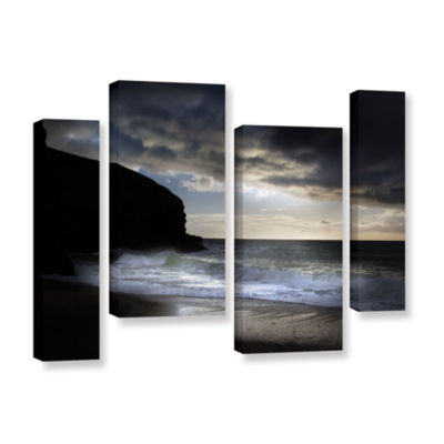 Brushstone Brushstone Dark Light 2 4-pc. Gallery Wrapped Staggered Canvas Wall Art