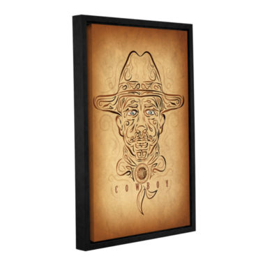 Brushstone Cowboy Gallery Wrapped Floater-Framed Canvas Wall Art