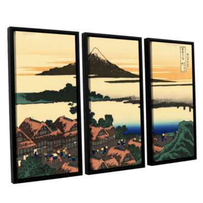 Brushstone Dawn At Isawa In The Kai Province 3-pc.Floater Framed Canvas Wall Art