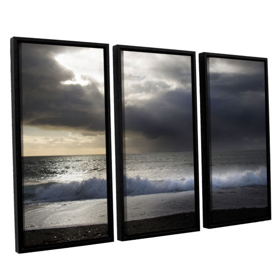 Brushstone Dark Light 3 3-pc. Floater Framed Canvas Wall Art