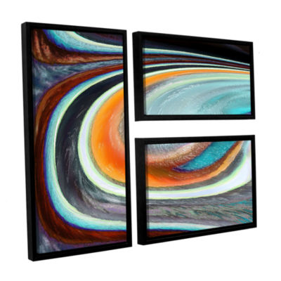 Brushstone Currents 3-pc. Flag Floater Framed Canvas Wall Art