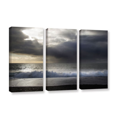 Brushstone Dark Light 3 3-pc. Gallery Wrapped Canvas Wall Art