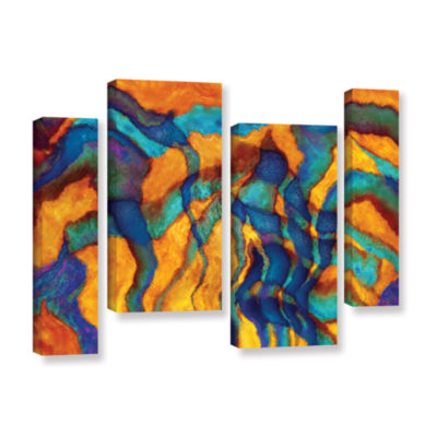 Brushstone Brushstone Cross Currents 4-pc. GalleryWrapped Staggered Canvas Wall Art