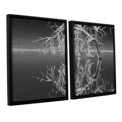 Brushstone Dead Arch Black And White 2-pc. Floater Framed Canvas Wall Art