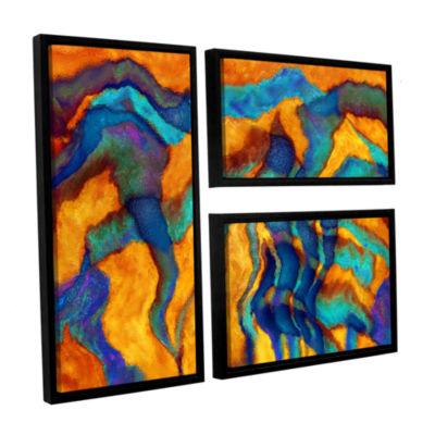 Brushstone Cross Currents 3-pc. Flag Floater Framed Canvas Wall Art
