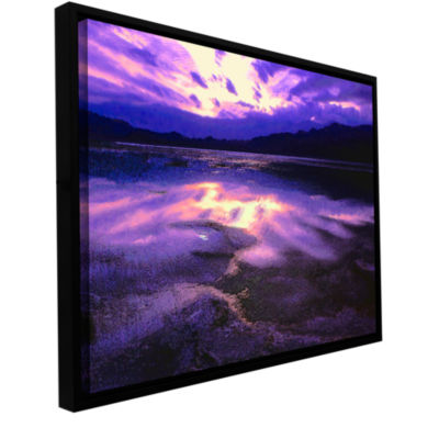 Brushstone Death Valley Winter Gallery Wrapped Floater-Framed Canvas Wall Art