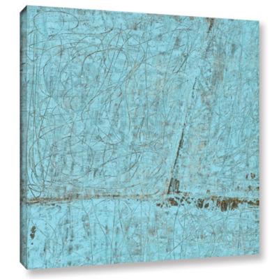 Brushstone Brushstone Cyan Swirl Gallery Wrapped Canvas Wall Art