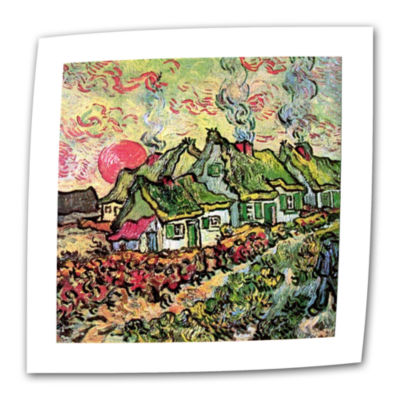 Brushstone Cottages Reminiscent Of North Canvas Wall Art