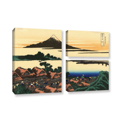 Brushstone Brushstone Dawn At Isawa In The Kai Province 3-pc. Flag Gallery Wrapped Canvas Wall Art