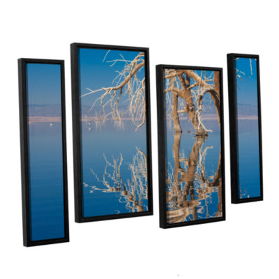 Brushstone Dead Arch 4-pc. Floater Framed Staggered Canvas Wall Art