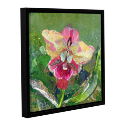 Brushstone Dancing Orchids I Gallery Wrapped Floater-Framed Canvas Wall Art