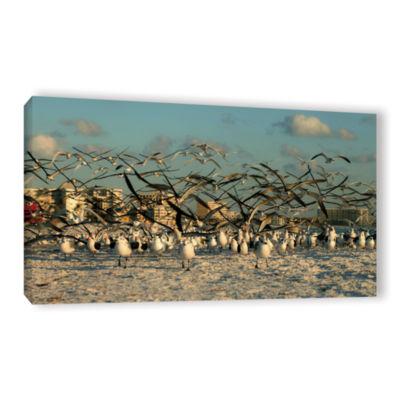 Brushstone Brushstone Crazy Birds Gallery WrappedCanvas Wall Art