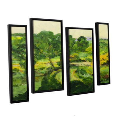 Brushstone Coton In The Elms 4-pc. Floater FramedStaggered Canvas Wall Art