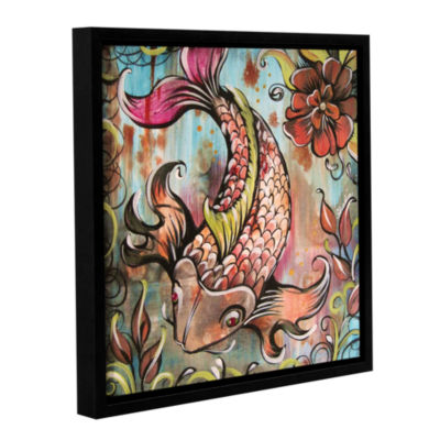 Brushstone Coy Koi Gallery Wrapped Floater-Framed Canvas Wall Art