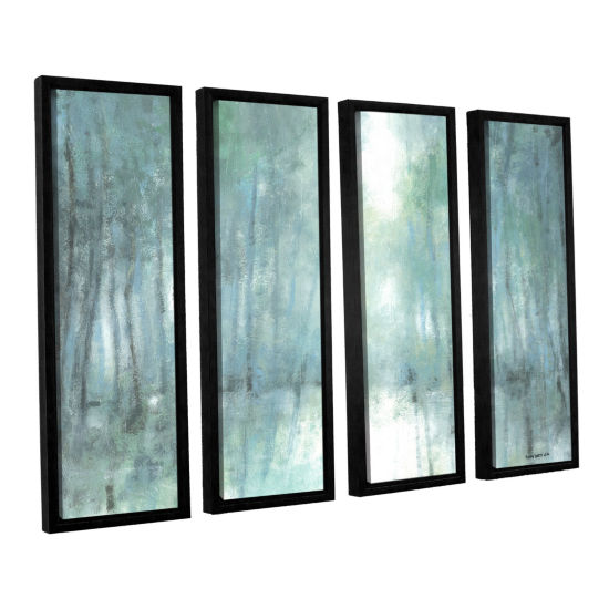 Brushstone Crisp Breeze 4-pc. Floater Framed Canvas Wall Art