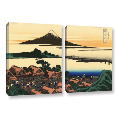 Brushstone Dawn At Isawa In The Kai Province 2-pc.Gallery Wrapped Canvas Wall Art