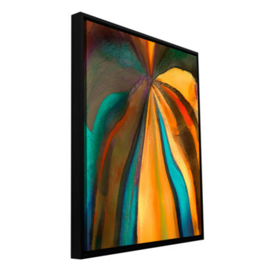 Brushstone Convergence 6 Gallery Wrapped Floater-Framed Canvas Wall Art
