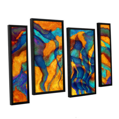 Brushstone Cross Currents 4-pc. Floater Framed Staggered Canvas Wall Art