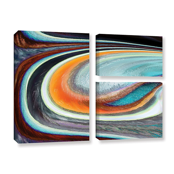 Brushstone Currents 3-pc. Flag GalleryWrapped Canvas Wall Art