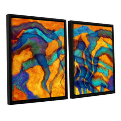 Brushstone Cross Currents 2-pc. Floater Framed Canvas Wall Art