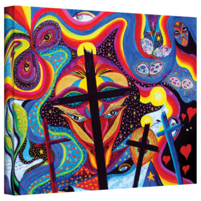 Brushstone Crosses To Bear Gallery Wrapped CanvasWall Art