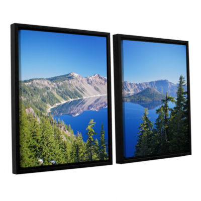 Brushstone Crater Lake 2-pc. Floater Framed Canvas Wall Art