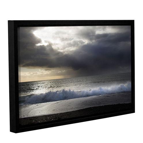 Brushstone Dark Light 3 Gallery Wrapped Floater-Framed Canvas Wall Art