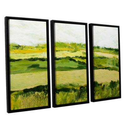 Brushstone Cottonworth 3-pc. Floater Framed Canvas Wall Art
