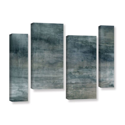 Brushstone Brushstone Cyan Sea 4-pc. Gallery Wrapped Staggered Canvas Wall Art