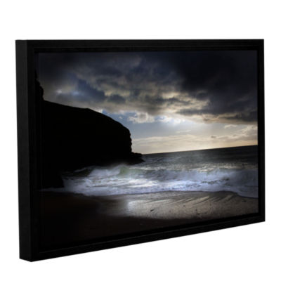 Brushstone Dark Light 2 Gallery Wrapped Floater-Framed Canvas Wall Art
