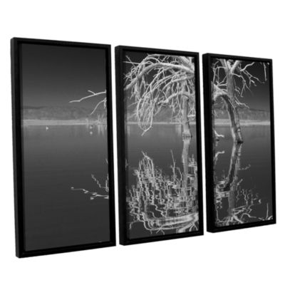 Brushstone Dead Arch Black And White 3-pc. FloaterFramed Canvas Wall Art