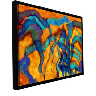 Brushstone Cross Currents Gallery Wrapped Floater-Framed Canvas Wall Art