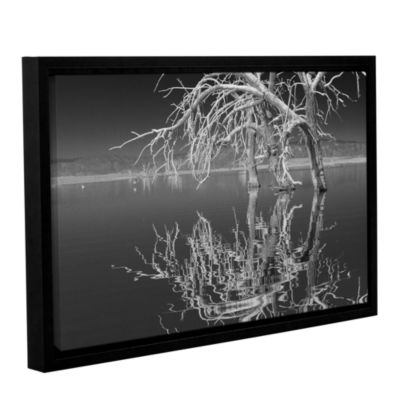 Brushstone Dead Arch Black And White Gallery Wrapped Floater-Framed Canvas Wall Art